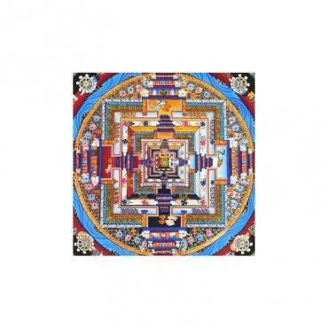 peinture kalachakra mandala bouddhiste sans tissu