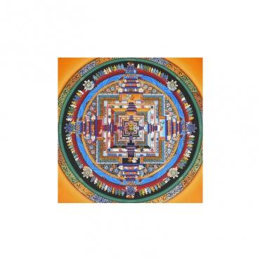 représentation bouddhiste de la vie kalachakra peinture