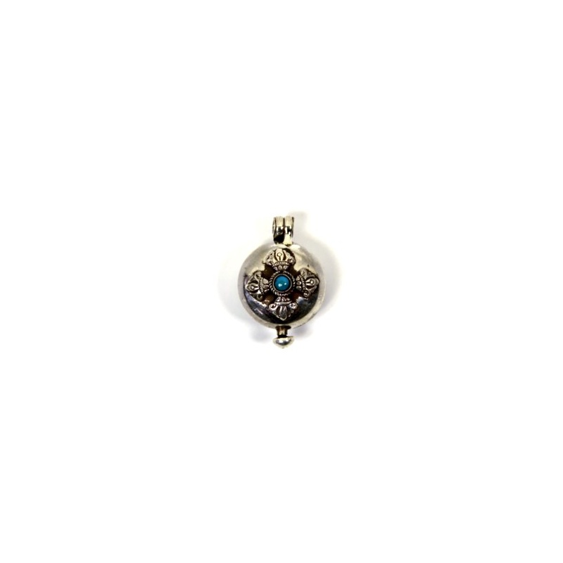 amulette pendentif bouddhiste tibétain à remplir