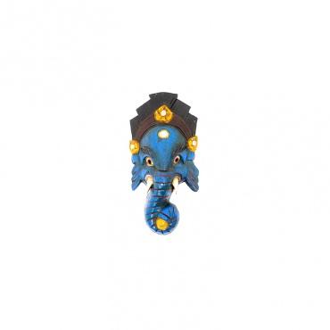 petit masque de ganesh l'éléphant bleu