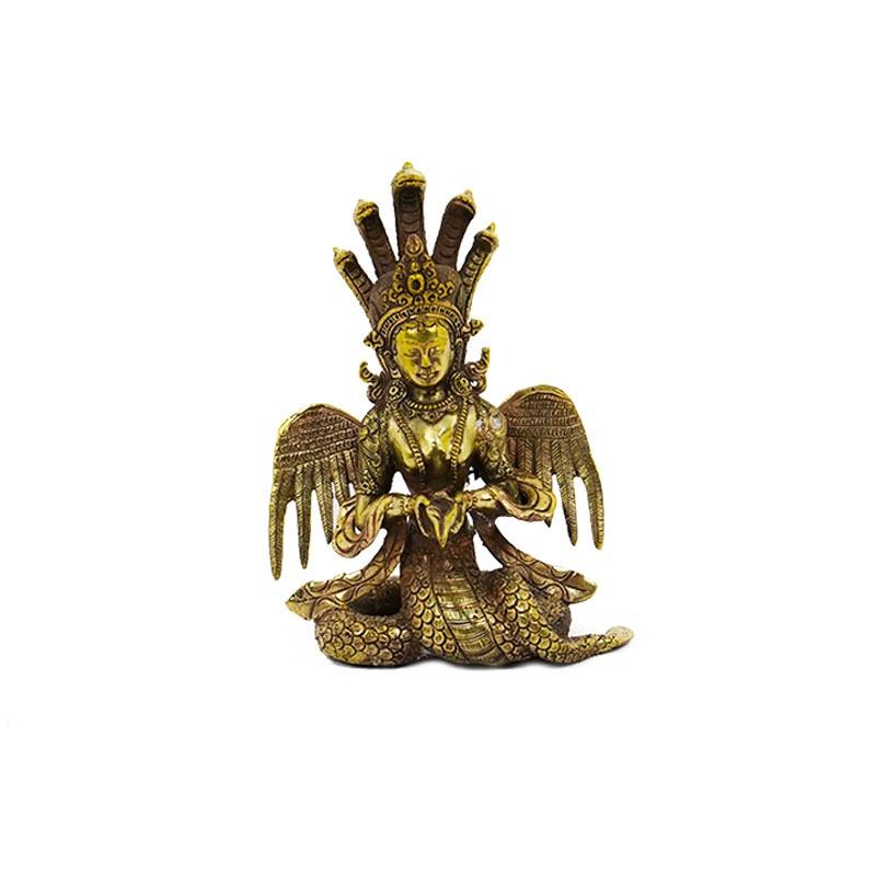 statue de naga Kanya mi femme mi serpent protection trésors