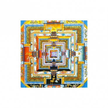 palais des dieux peinture kalachakra bouddhiste