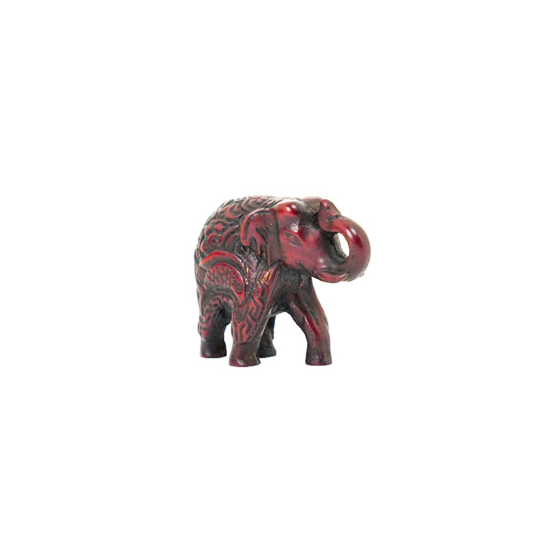 statue de ganesh b b en r sine imitation bois rouge. Black Bedroom Furniture Sets. Home Design Ideas