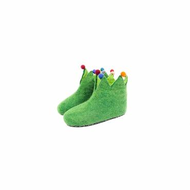 chaussons pantoufles pour enfants laine feutrée