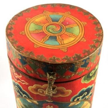 Coffre cylindre Guru Rinpoche