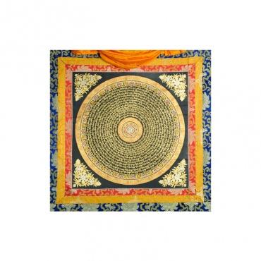 peinture tibétaine mandala tangka