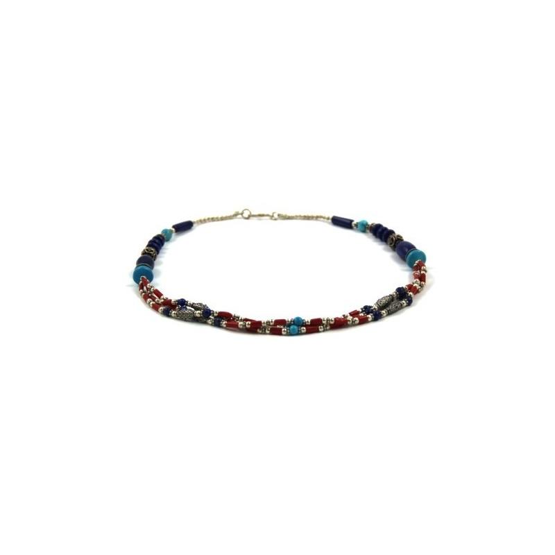 Collier tibétain précieux