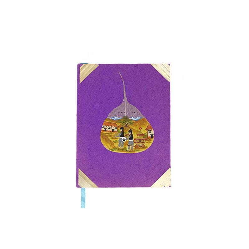 carnet de note livret intime de poésie violet rose