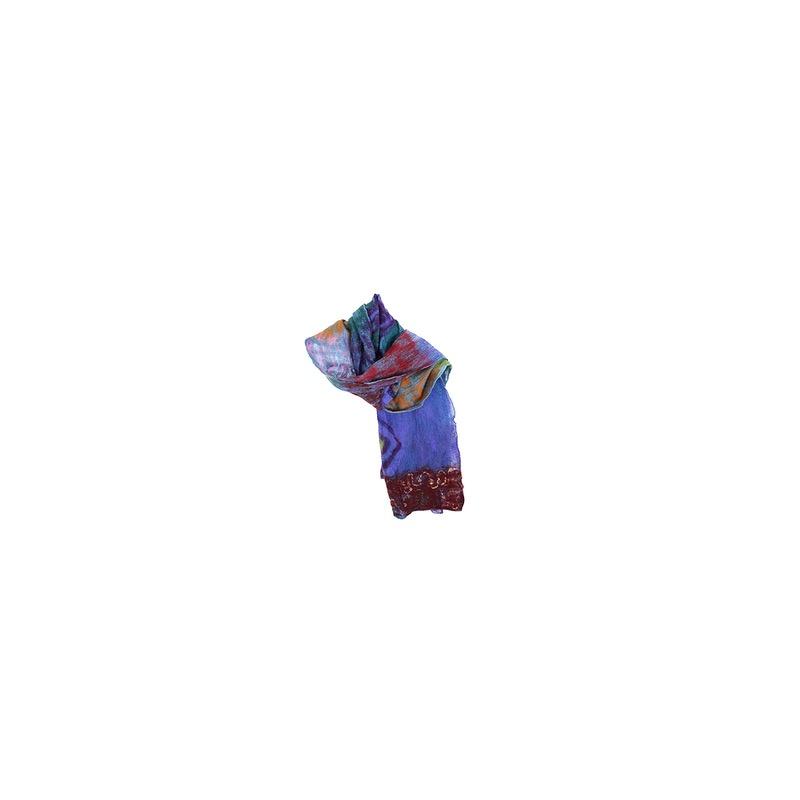 écharpe soie et laine originale unique accessoire mode