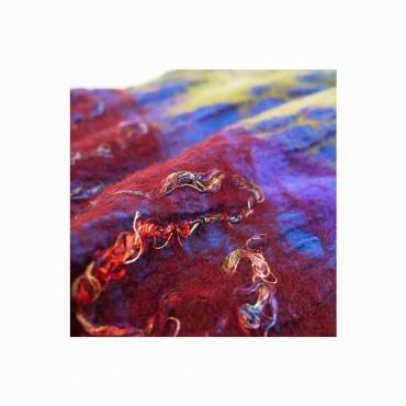 écharpe soie laine originale couleur chaude