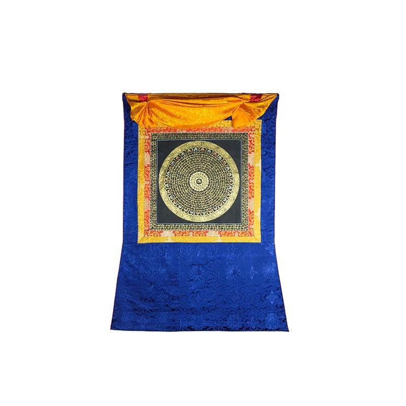 mandala peinture mantra bouddhiste