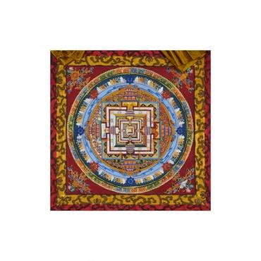 mandala peinture bouddhique temple de vie