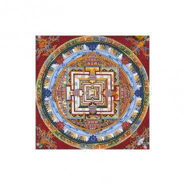 peinture bouddhiste qui représente la palais des divinités
