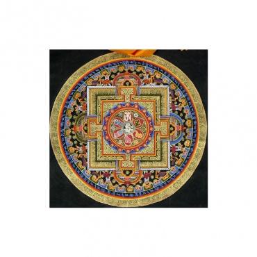 tangka peinture traditionnelle tibétaine bouddhiste mantra