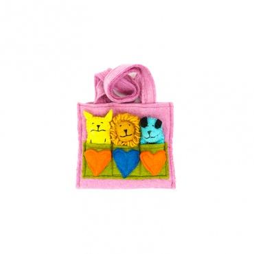 sac marionnettes rose pour enfants