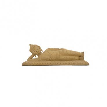 statue de bouddha couché en bois