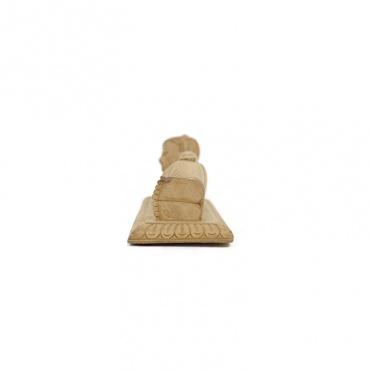 statue en bois du bouddha couché