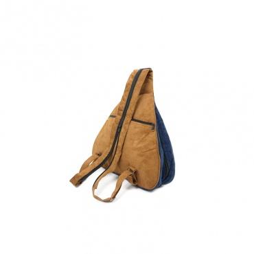sac à dos original bleu brodé féminin