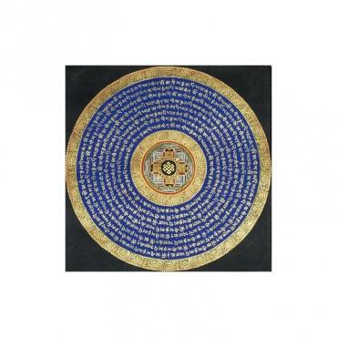 peinture bouddhiste de protection noeud sans fin