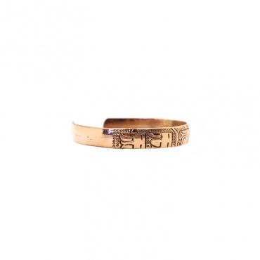 bracelet en cuivre homme femme mantra tibétain