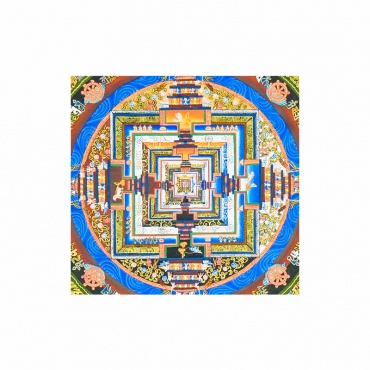 peinture sur toile bouddhiste tibétaine mandala