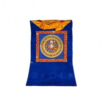 tangka mandala mantra om mani padmé hum