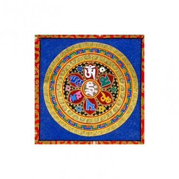 peinture bouddhiste mantra compassion