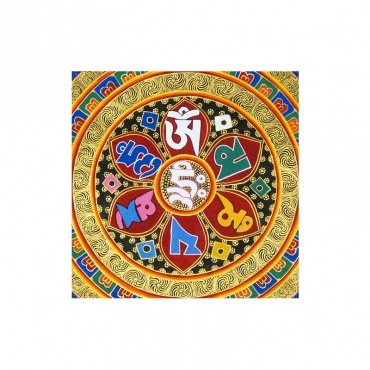 mantra de chenrezig peinture bouddhiste