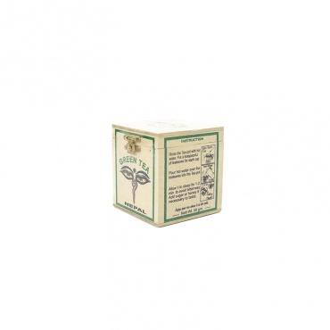 thé vert dans boite en bois