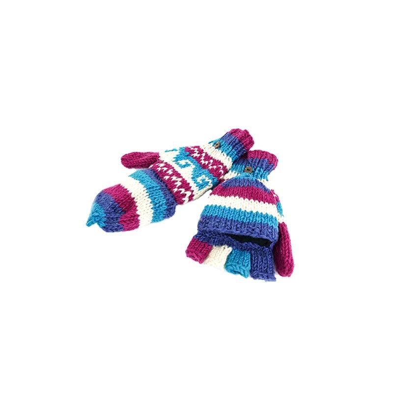 gants moufles avec capuche amovible