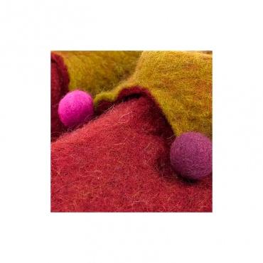 pantoufles chausson en laine bouillie rouge taille 35-36
