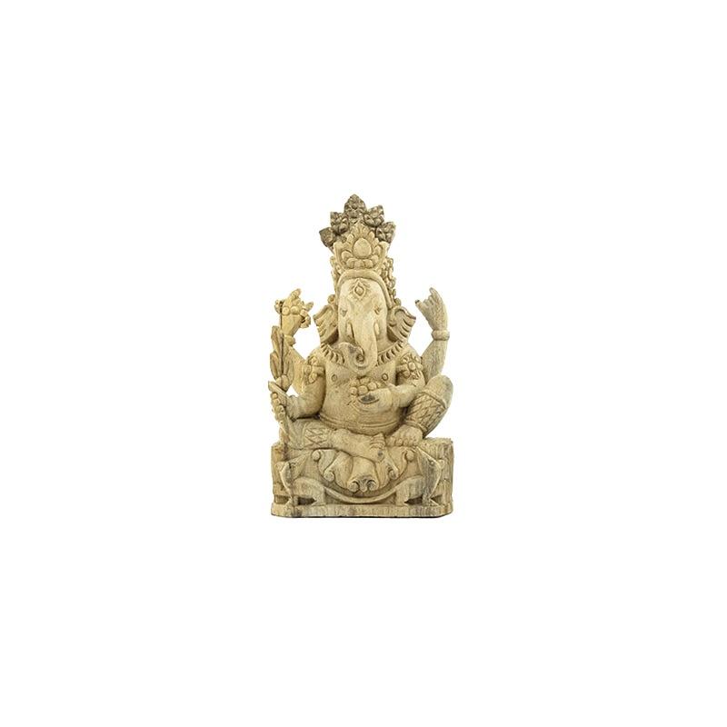 statue de ganesh en bois de camphre