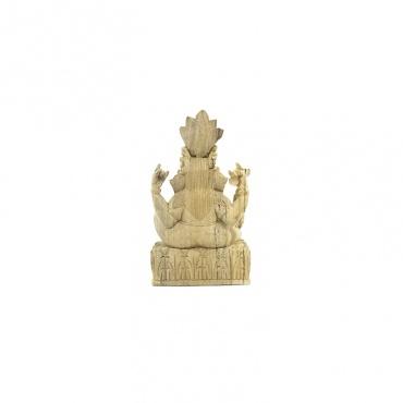 statue en bois de ganesh l'éléphant indou