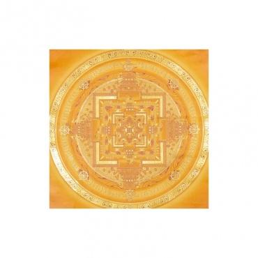 peinture temple des dieux bouddhiste or