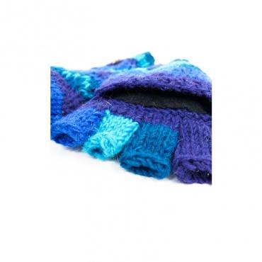 gants moufles mitaines capuche amovible bleu vert