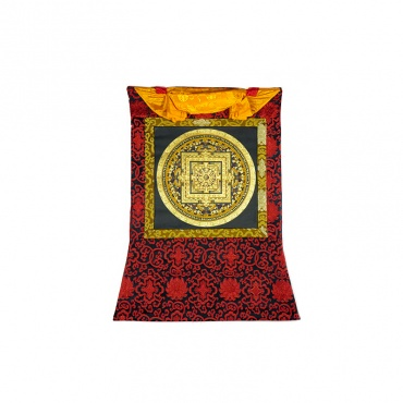 peinture tibétaine bouddhiste tangka mantra mandala OM
