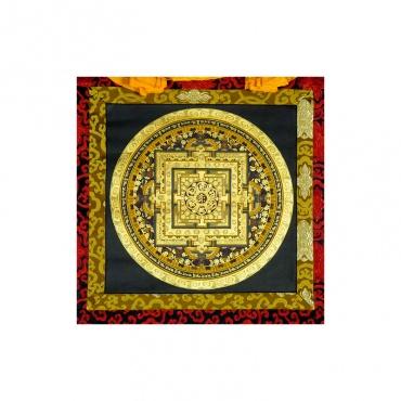 tangka peinture bouddhiste mantra om mani padmé hum
