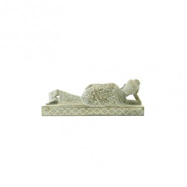 statue de bouddha couché paranirvana pierre sculptée