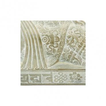 signe porte bonhuer et protection bouddhiste sur statue bouddha couché