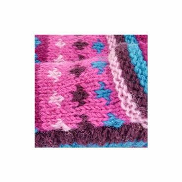 chausson en laine doublé de  polaire rose