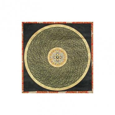 tangka mandala peinture mantra et tissu tibétain