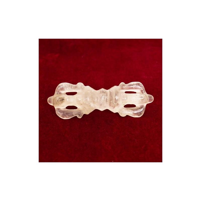 dorje vajra foudre en cristal himalaya