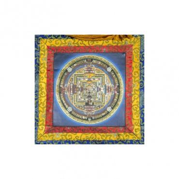 peinture bouddhiste roue du temps mandala