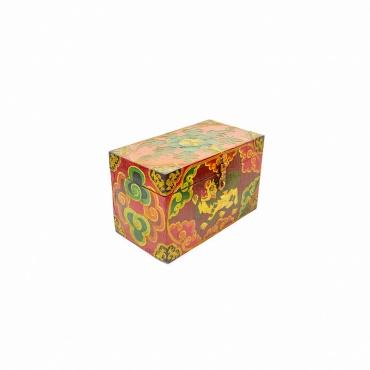 coffre en bois peint tibétain