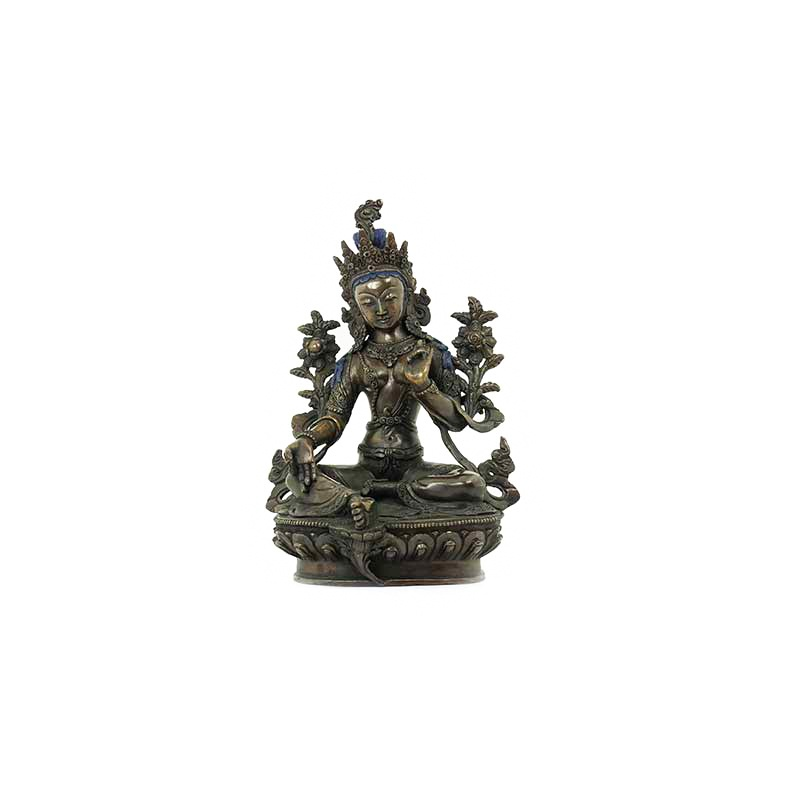 statue de tara verte foncée