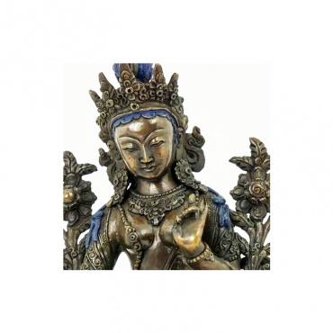 visage de statue tara verte