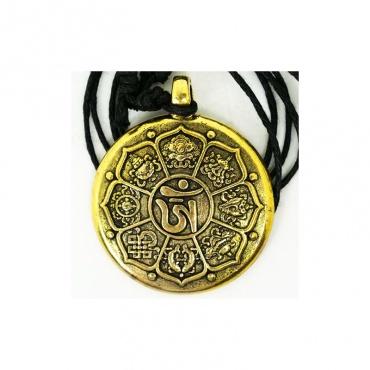 pendentif lotus porte-bonheur et tortue astrologique