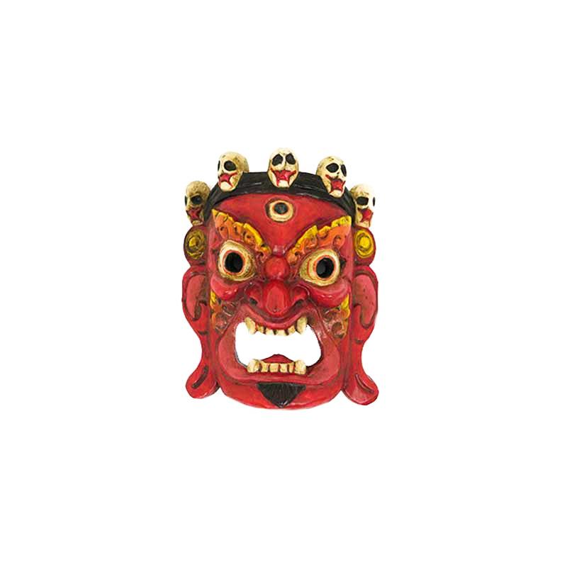 masque effrayant de mahakala rouge