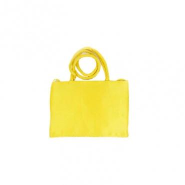 sac indien envers soyeux jaune brodé et miroir