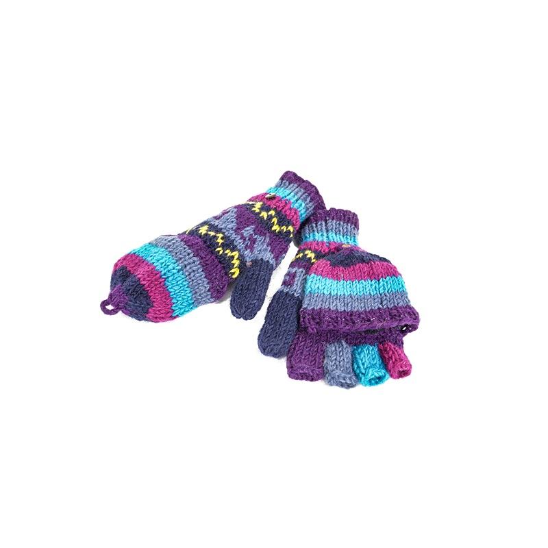 moufles gants mitaines en laine double polaire
